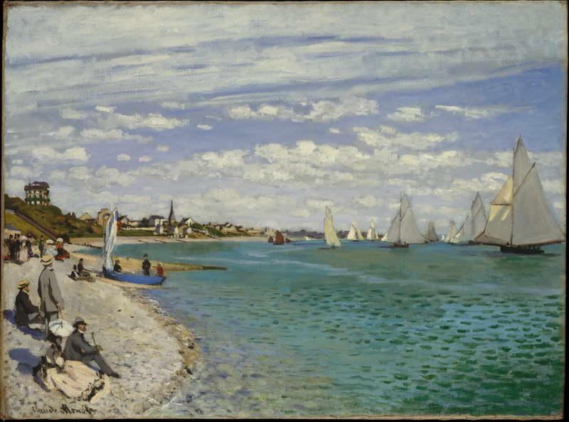 Regatta at Sainte-Adresse, 1867