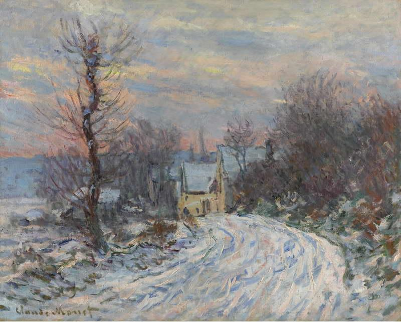 Road to Giverny in Winter, 1885
