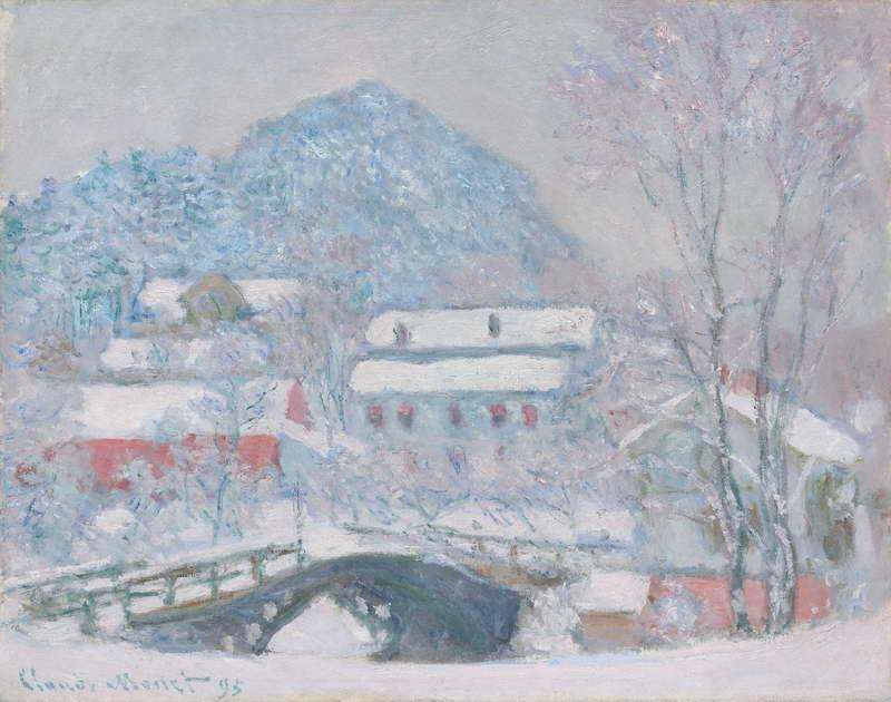Norway, Sandviken Village in the Snow, 1895