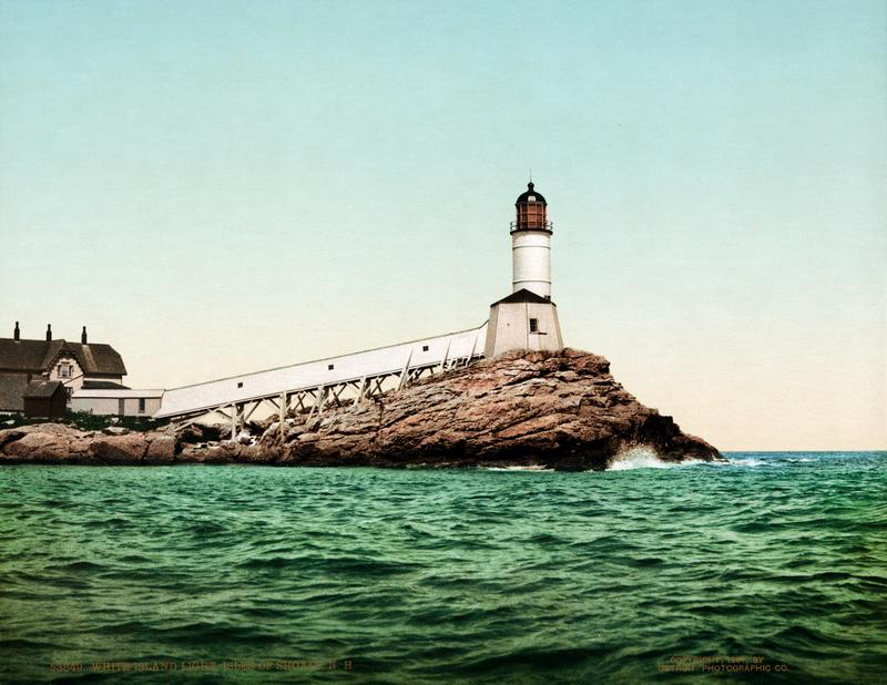 Faro de Isla Blanca, New Hampshire 1901