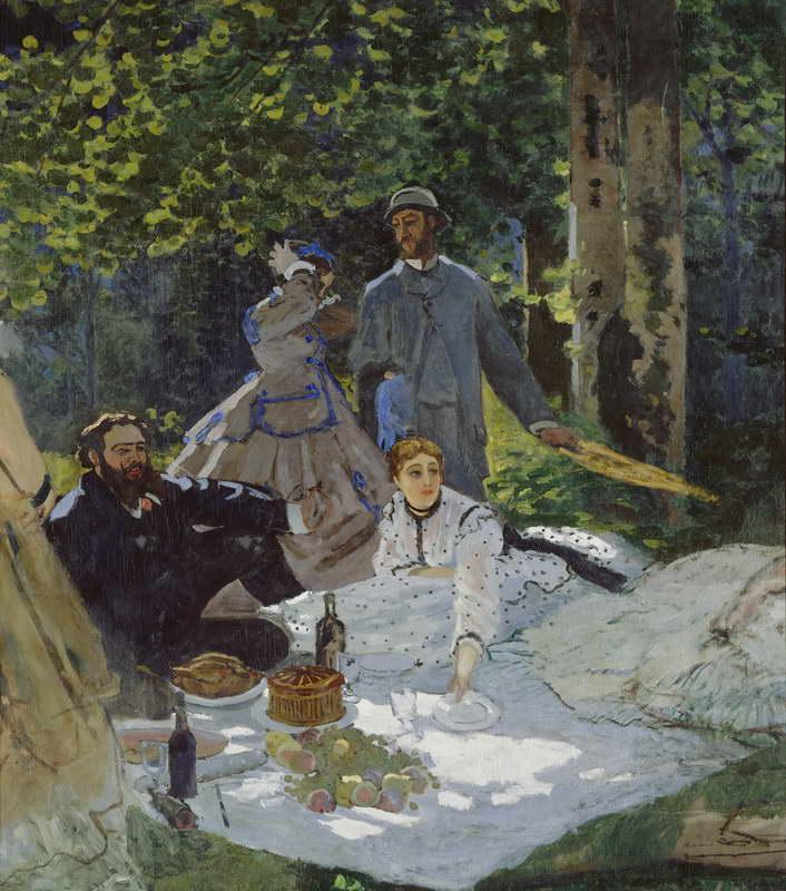 Luncheon on the Grass, Center Panel, 1865