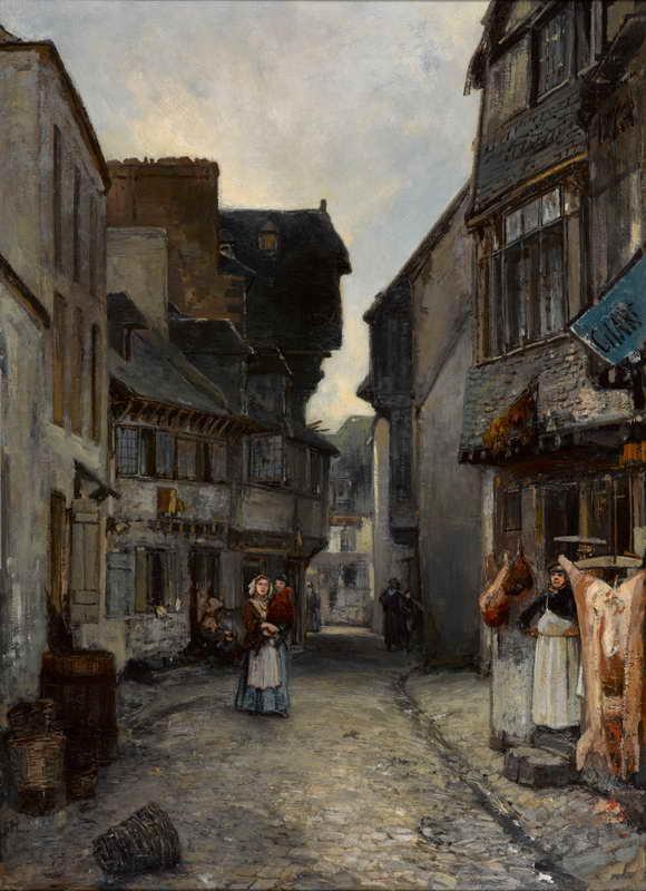 Armario Keter Jardin ~ Obra de Arte Una calle en Landerneau Johan Barthold