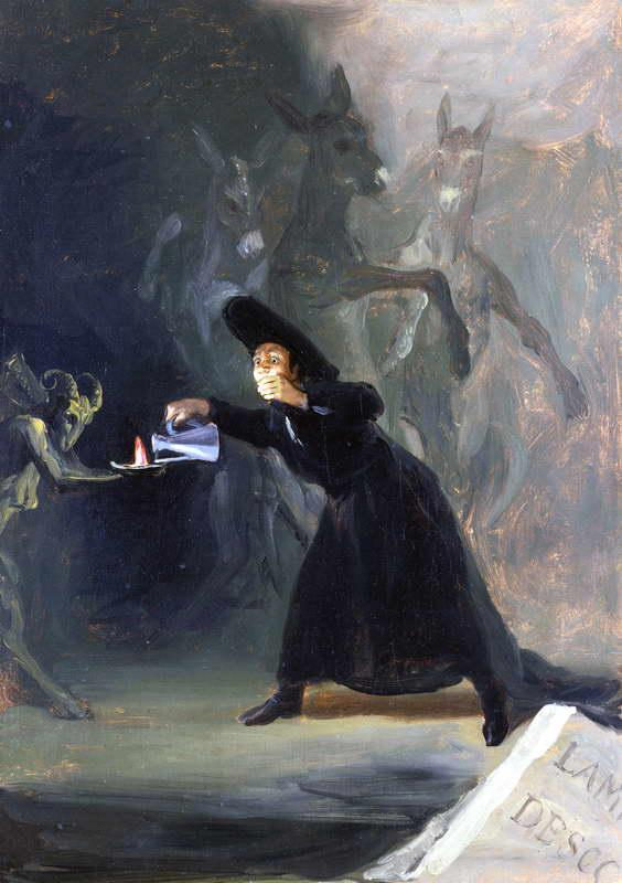GOYA Y LUCIENTES, Francisco de - A Scene from 'The Forcibly Bewitched'