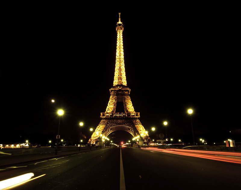Fotomural Paris Torre Eiffel De Noche