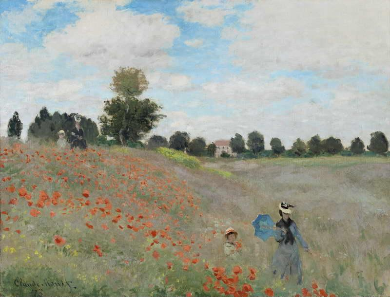 Poppies Near Argenteuil, 1873