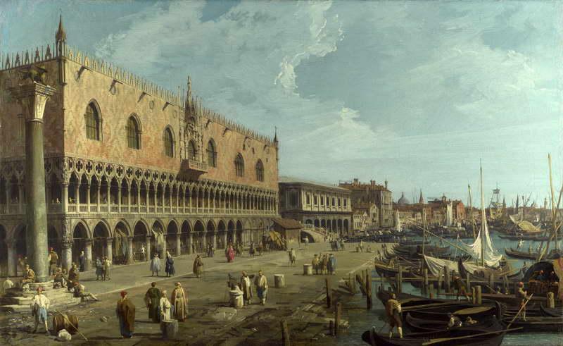 Obra de Arte - De Canaletto - Palacio Ducal y de la Riva degli ...