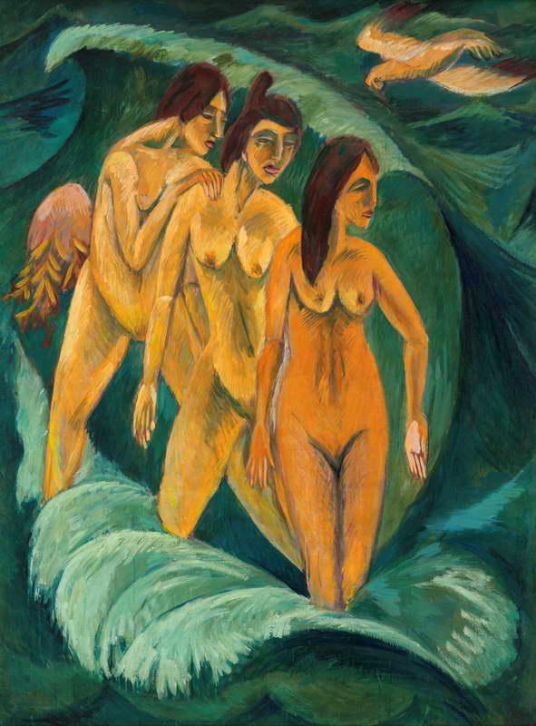 Resultado de imagen de ernst ludwig kirchner tres bañistas