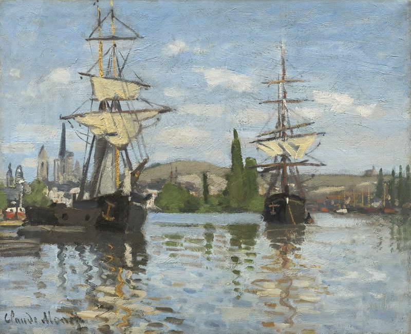 Ships Sailing on the Seine at Rouen, 1872