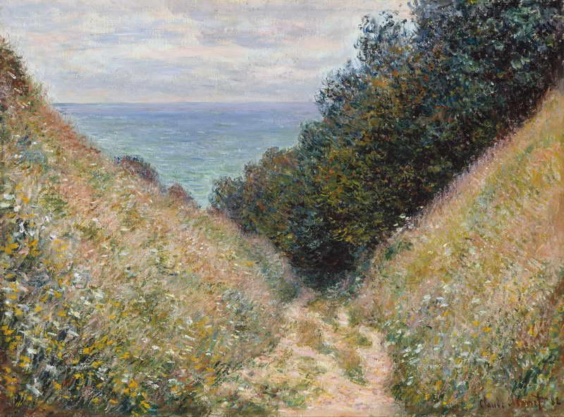 Road at La Cavée, Pourville