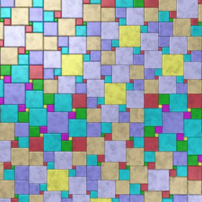 Cuadro en lienzo con bastidor trama en cuadros y colores - Cuadros de colores ...