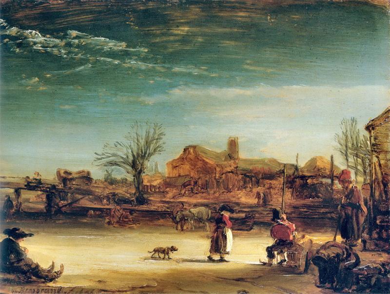 Obra de Arte - Paisaje de Invierno - Rembrandt Harmenszoon van Rijn