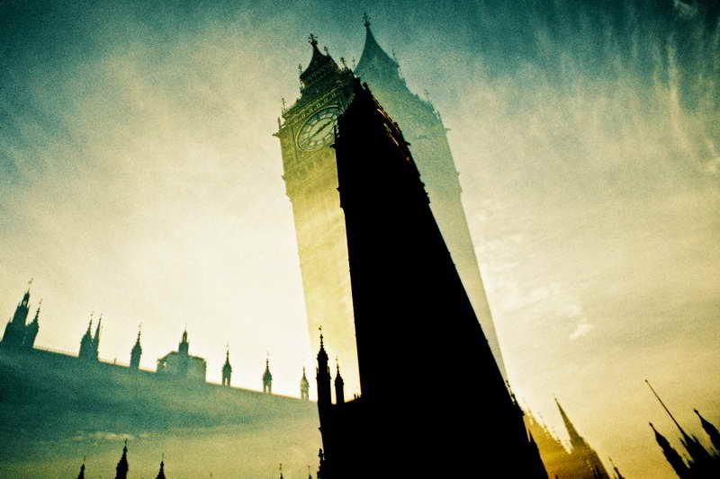 Big Ben de Londres efecto movimiento