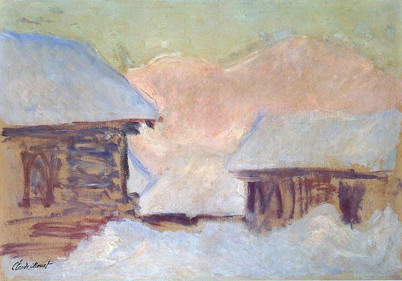 Norway, Houses under the Snow, 1895