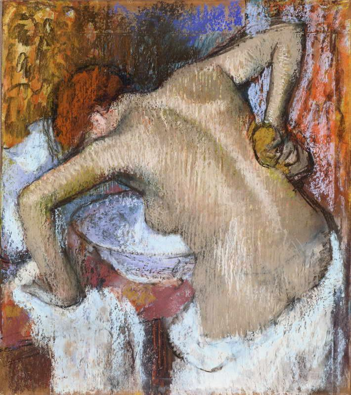 Obra de Arte - Mujer lavandose la espalda - Hilaire-Germain-Edgar Degas