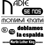 Vinilo decorativo texto de Martin Luther King