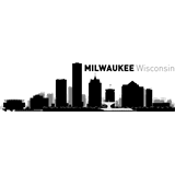 Vinilo decorativo skyline ciudad de Milwaukee
