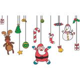 vinilo decorativo adornos colgantes de navidad