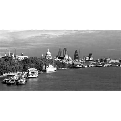 Londres skyline blanco y negro