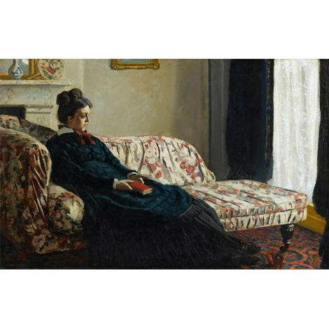 Meditation, Madame Monet Sitting on a Sofa, 1870-71