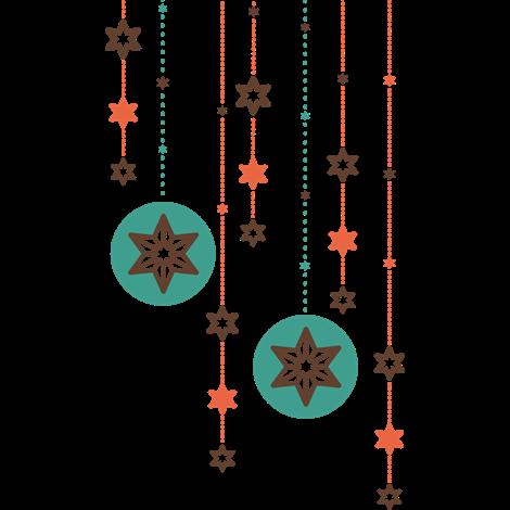 vinilo decorativo guirnaldas de estrellas de navidad - Guirnaldas Navidad