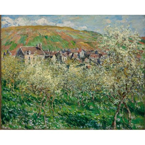 Plum Trees in Blossom at Vetheuil, 1879