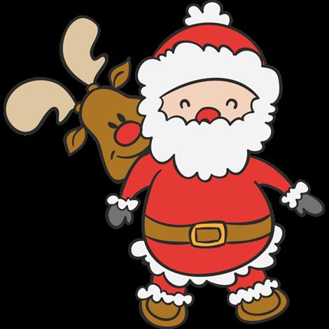 6f2a447a9c645 Vinilo decorativo Navidad Papá Noel con su reno