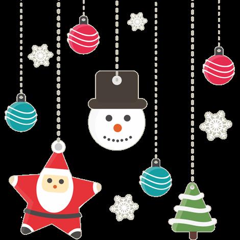 Decora tu pared con este vinilo navide o formado por - Adornos colgantes de navidad ...