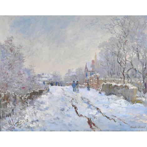 Snow Scene at Argenteuil, 1875