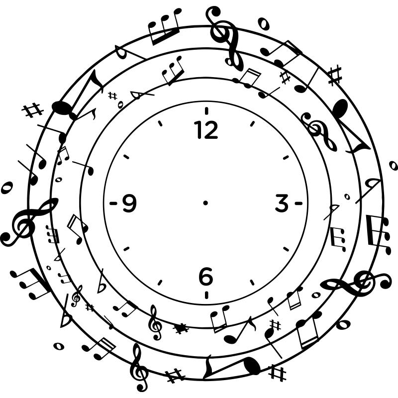 Reloj Notas Musicales 67x65