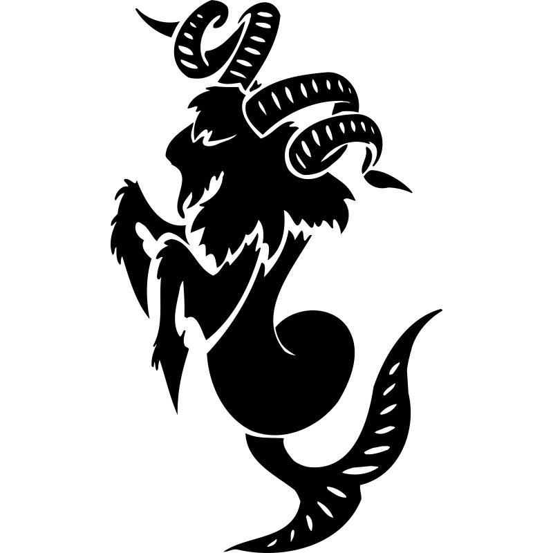 Козерог знак зодиака картинка черно белая