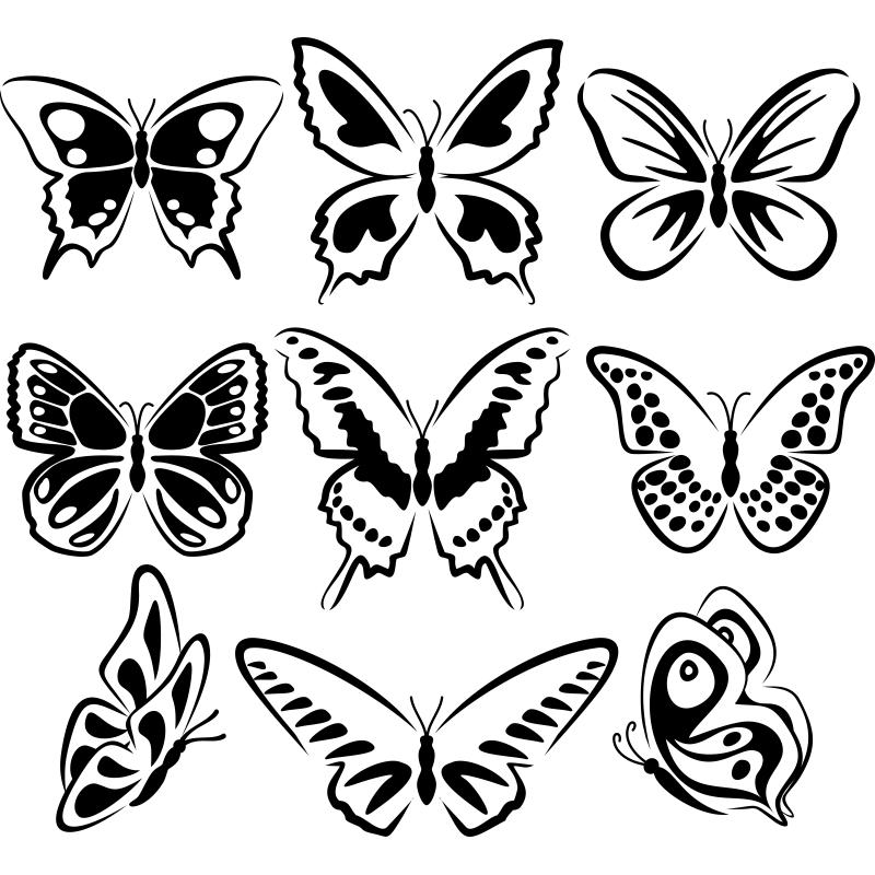 Puedes llenar tu casa de mariposas con este kit de for Donde conseguir vinilos decorativos
