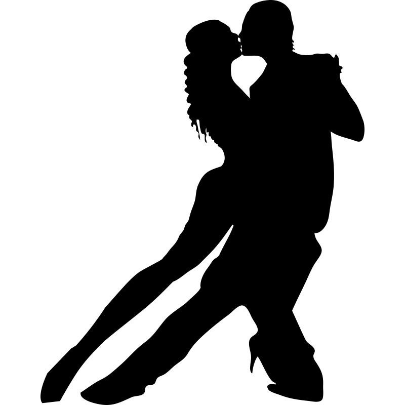 adhesivo decorativo de una pareja bailando tango un arte