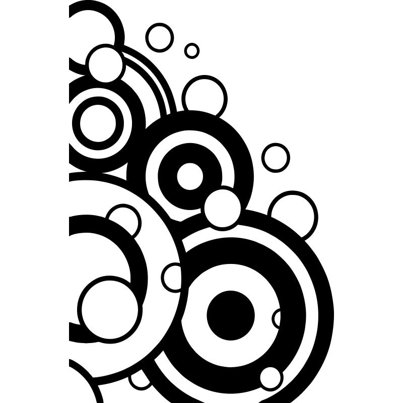 Este vinilo decorativo geom trico de grandes c rculos y semic rculos te per - Figuras decorativas grandes ...