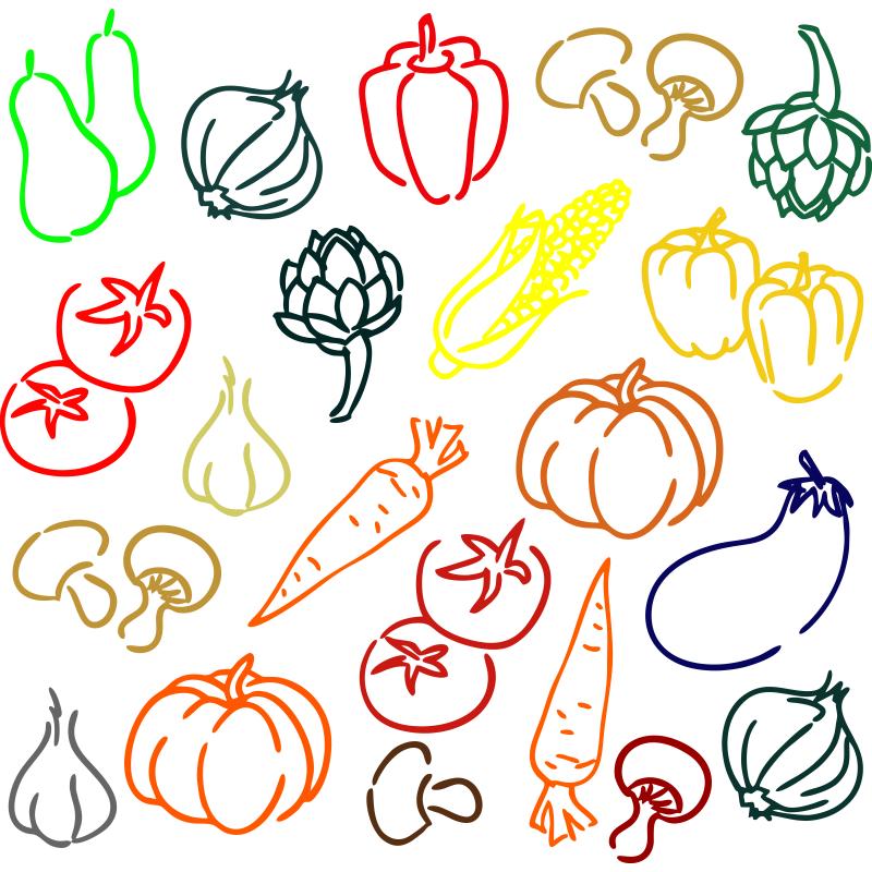Este Kit De Adhesivos De Frutas Y Verduras De Colores Es