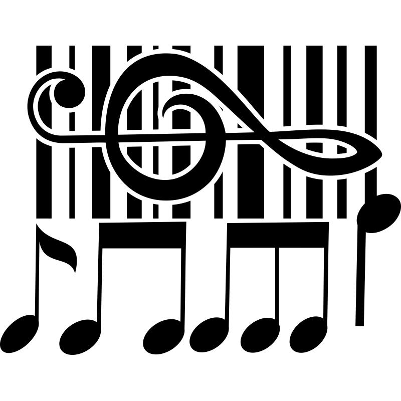 Esta pegatina es toda una colecci n de figuras m sicales for Vinilos decorativos musicales baratos