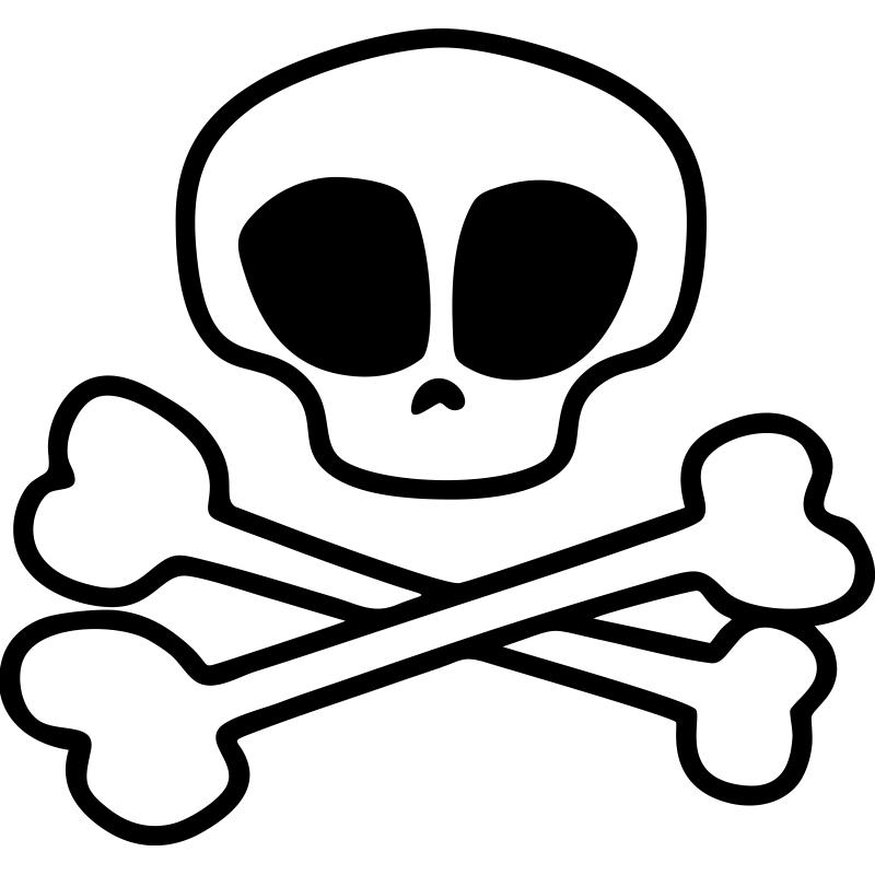 El Símbolo Pirata Una Calavera Y Dos Huesos Cruzados Cambia Un