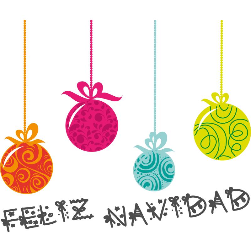 Este bonito vinilo decorativo de bolas de navidad a todo for Bolas de navidad baratas
