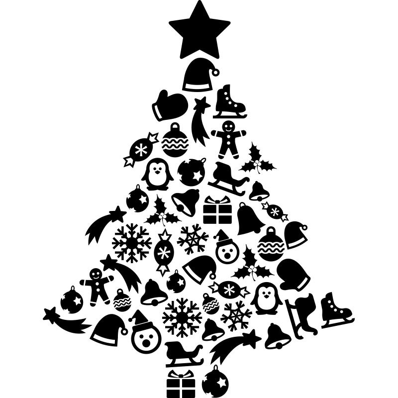 картинка елка новогодняя в графике треугольник исчезнет, значит
