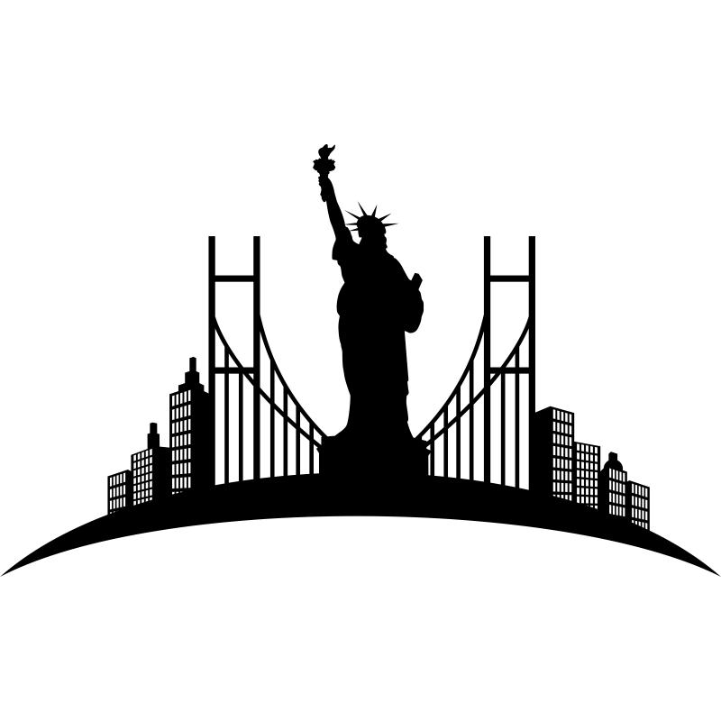 Recuerda tu viaje a nueva york con este vinilo decorativo for Vinilos pared new york