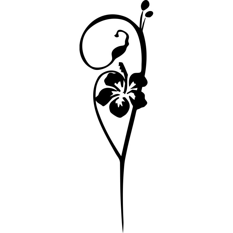 Una sola flor de hibisco como la que muestra este vinilo for Donde conseguir vinilos decorativos