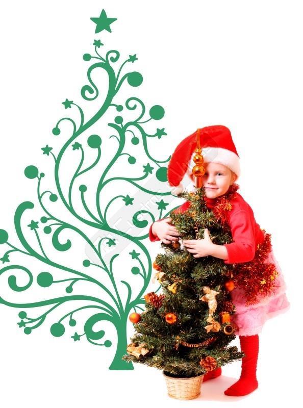 La Navidad Mas Elegante Llega A Tu Hogar Con Este Vinilo De Un Arbol - Decorativos-de-navidad