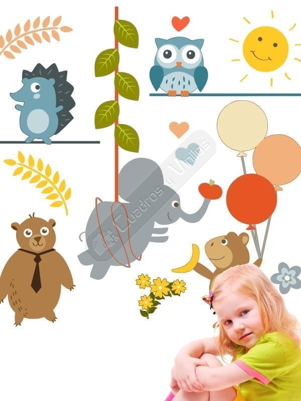 Crea tu propia escena con este original vinilo infantil for Pegatinas vinilos infantiles