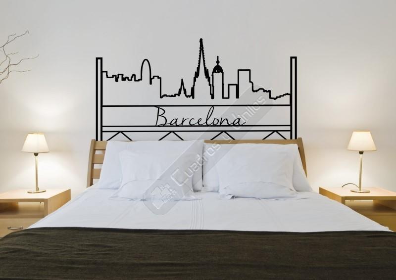 Decora tu dormitorio con el skyline de tu ciudad favorita - Vinilos de cabeceros ...