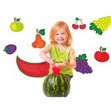Vinilo decorativo kit de frutas enteras de colores
