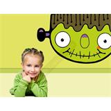 Vinilo decorativo infantil Frankenstein cartoon
