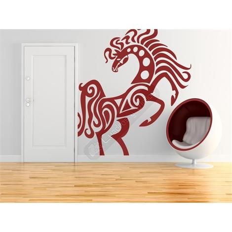 Vinilo decorativo caballo tribal 18