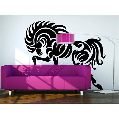 Vinilo decorativo caballo tribal 07