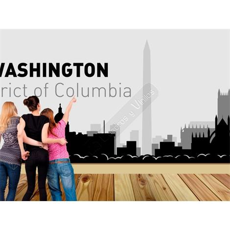 Vinilo decorativo skyline ciudad de Washington