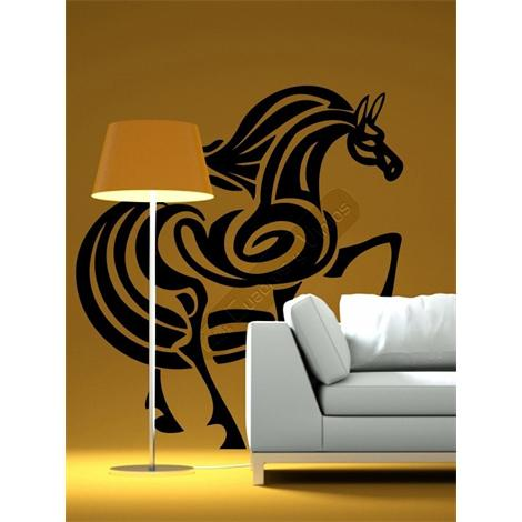Vinilo decorativo caballo tribal 17