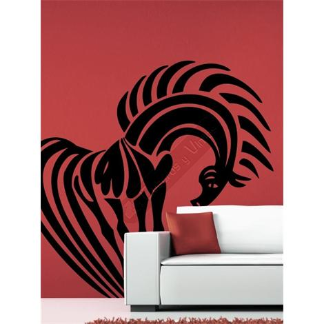 Vinilo decorativo caballo tribal 001
